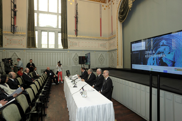 A felújított Zeneakadémia megnyitása, sajtótájékoztató