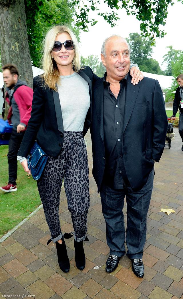 Kate Moss és Sir Phillip Green, többek közt a Topshop vezérigazgatója. Talán neki is elege lett abból, hogy lehúzzák a modellügynökségek?