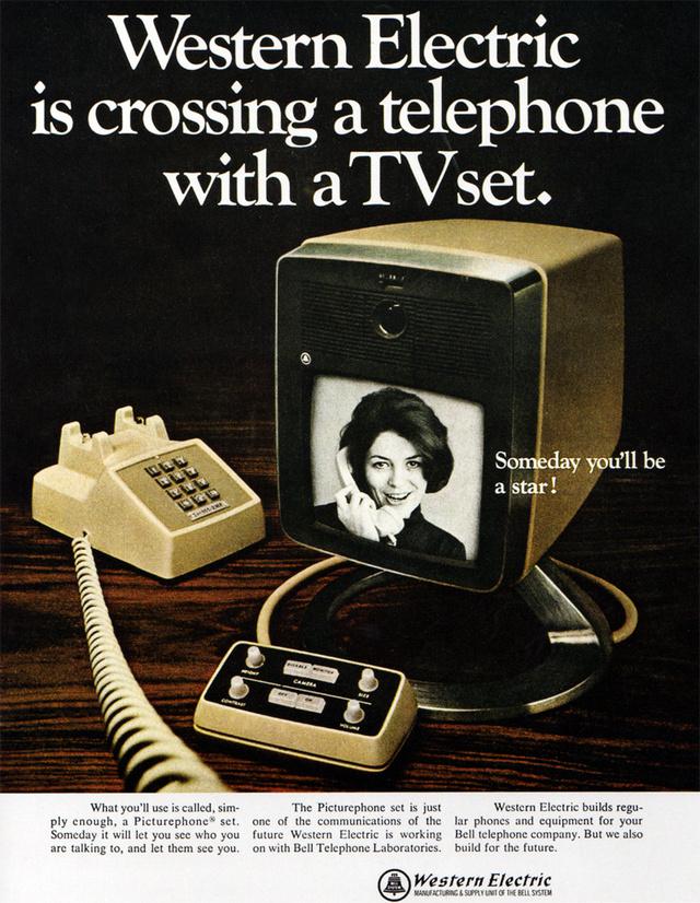A Western Electric videotelefonja reklámja.