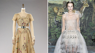 Akkor és most: Schiaparelli kottás ruhája a Valentinónál