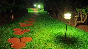 Lámpák nélkül is lehet világos a kert éjszaka