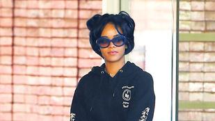 Rihanna fodrásznál volt, és hát nagyon elcseszték a haját