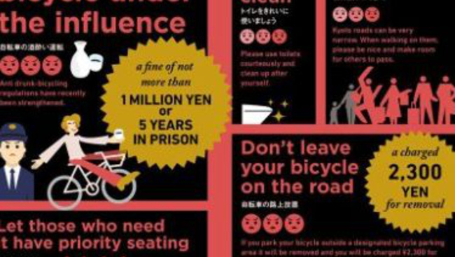 Turista, viselkedj! Infografika mutatja, hogyan ne idegesítsük halálra a helyieket Kiotóban