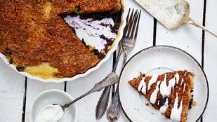 Pénteki süti: szórt áfonyás pite