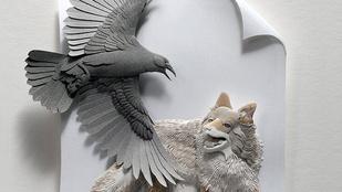 Így látja a papírművész a madarakat