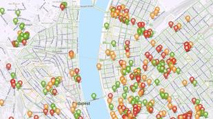 Egy térképen Budapest akadálymentesített helyei