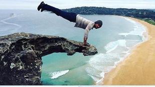 De miért emeli ki magát Kellan Lutz a szikla szélén? Meg akar halni?