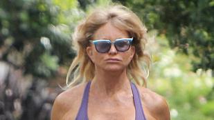 Goldie Hawn eldöntötte, hogy milyen melltartót vegyen a futáshoz: semmilyet