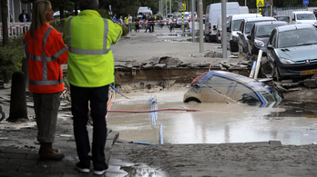 Csőtörés miatt van árvíz Amszerdamban