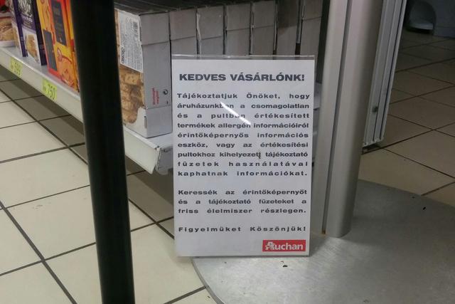 Találja meg a táblát az Auchanban!
