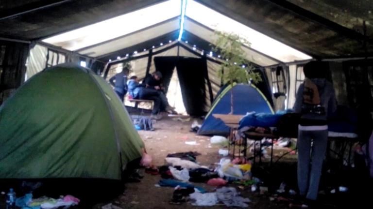 A tábor, ahonnan megindulnak a menekültek Magyarországra