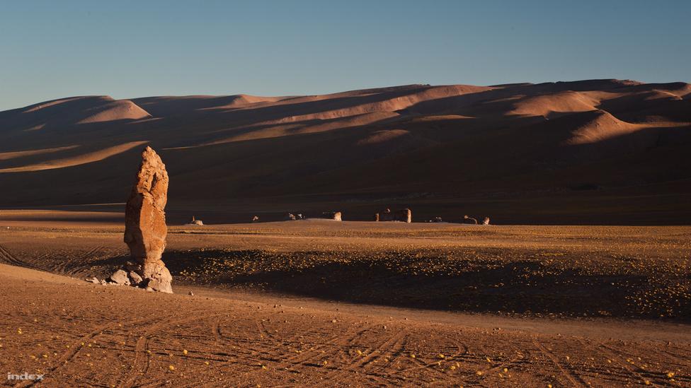 Salar de Tara egyik látványossága a Monjes de la Pacana, vagyis a Pacanai Szerzetesek. Ezek a sivatag közepén álló, 20-30 méter magas, látványos sziklatornyok egykori vulkanikus tevékenység eredményei, főleg ignimbrit nevű vulkanikus kőzetből állnak.