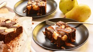 Pénteki süti: körtés, duplacsokis, karamelles brownie