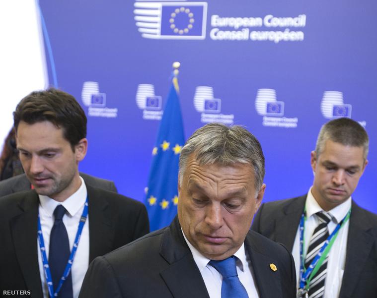 Orbán Viktor miniszterelnök a brüsszeli EU-csúcs után