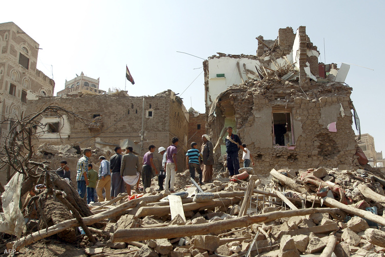 A jemeni főváros, Szanaa óvárosa szeptember 19-én