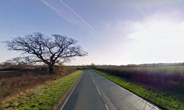 A B645-ös út Tilbrook közelében. A kép illusztráció. Forrás: Google Street View