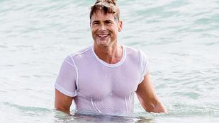 Így néz ki az 51 éves Rob Lowe vizes pólóban a tengerben