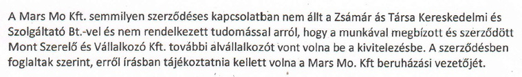 Részlet a MARS Magyarország Kisállateledel Gyártó Kft. helyszíni ellenőrzésén készült munkavédelmi jegyzőkönyvből.
