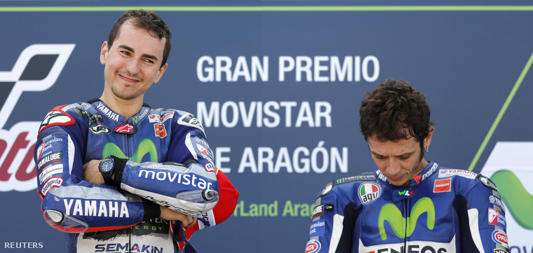 Lorenzo és Rossi a hétvégi dobogón