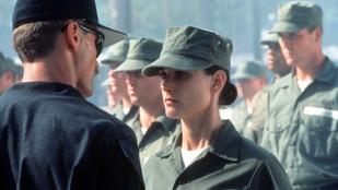 Demi Moore a G.I. Jane idején és most