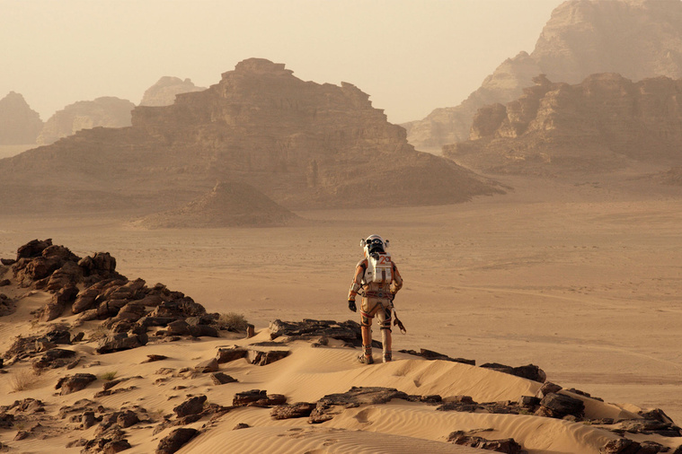 Matt Damon a Marson ragadt - jelenet a filmből