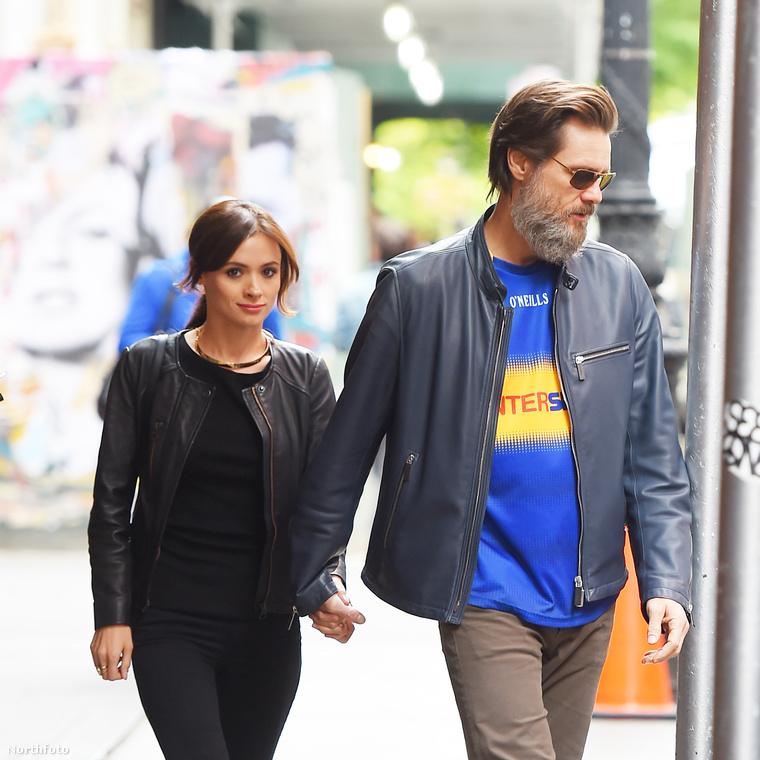 Cathriona White és Jim Carrey