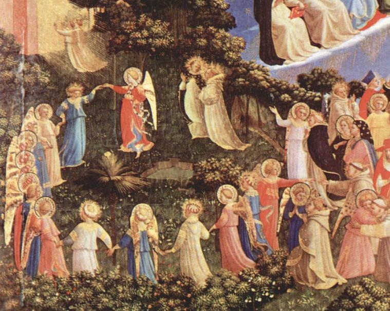 Lánctánc a Paradicsomban Fra Angelico Utolsó ítélet című festményén