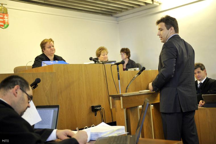 Tátrai Miklós a bíróságon 2014 novemberében