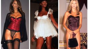 Azta, hogy nézett ki a Victoria's Secret show 20 évvel ezelőtt!