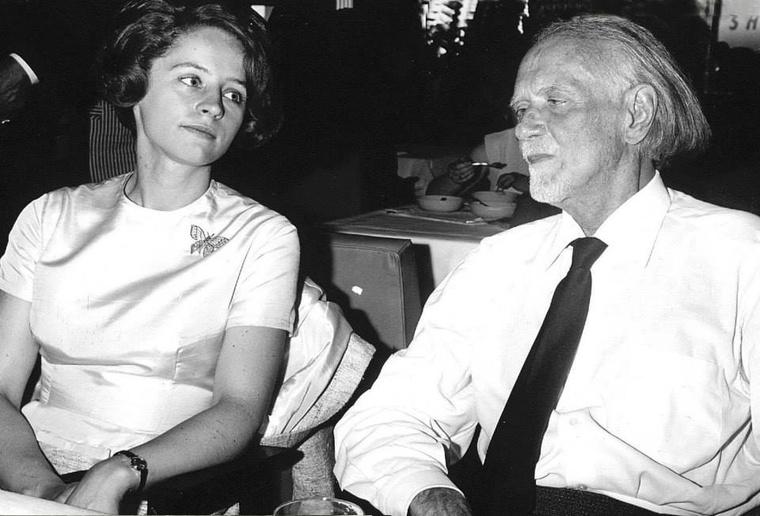 Kodály Zoltán (83) és Péczely Sarolta (25) 1966-ban