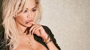 Rita Ora a földön fetrengve, melltartóban szeret telefonálni