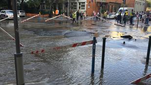 Szétszakadt az aszfalt és özönvíz van a Pozsonyi-Radnóti sarkon