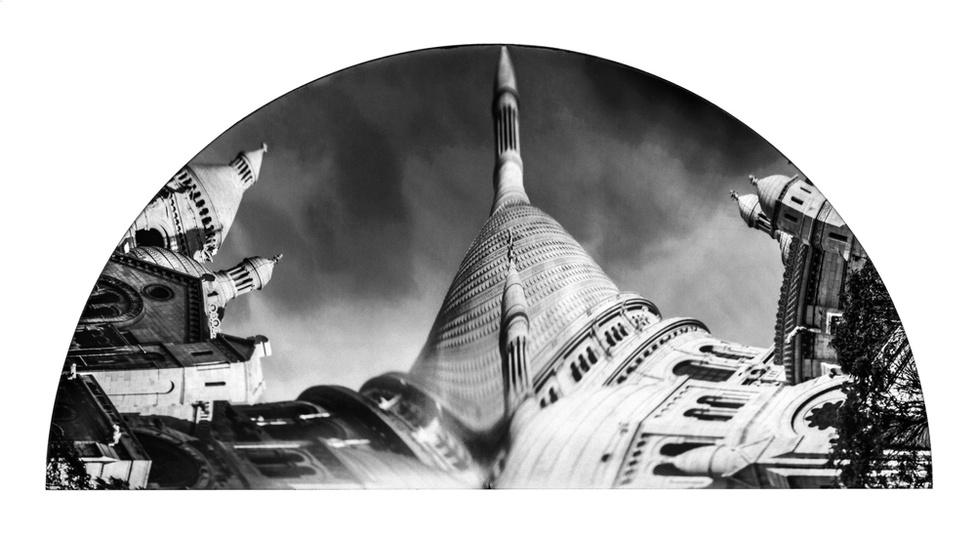 Sacre Coeur, kiterített anamorfózis, 2006. 87x150 cm