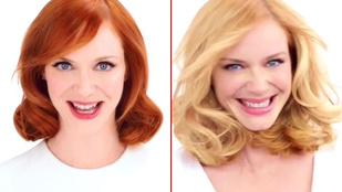 Christina Hendricks haja reklámban vezeti félre az embereket