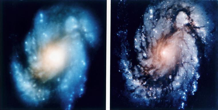 A Hubble első fotói a hibajavítás előtt és után