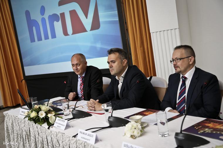 (Balról jobbra) Tarr Péter vezérigazgató-helyettes, Lukáts Péter kreatív kommunikációs igazgató, Pauwlik László vezérigazgató
