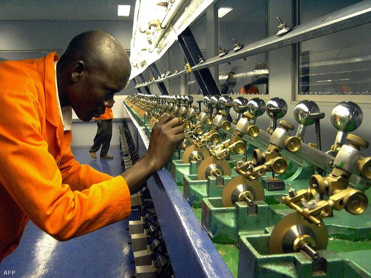 Gyémántvágó műhely Namíbiában