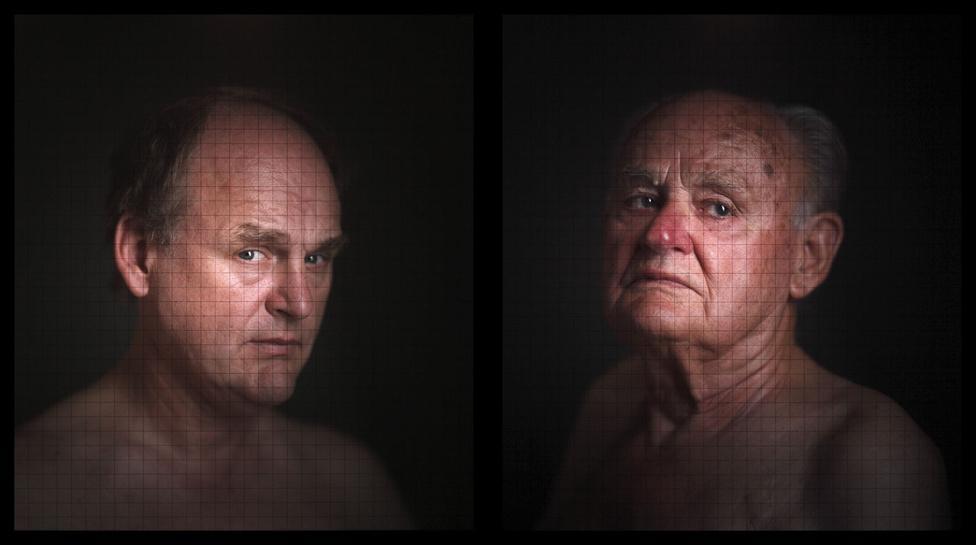 Telek Balázs: Gábor és Gyula, lightbox, 2009.