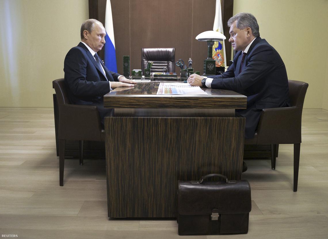 Putyin és az orosz védelmi miniszter tárgyalásának sajtónyilvános része