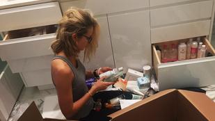 Mihalik Enikő fürdőszobájában több cucc van, mint egy drogériában