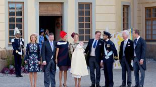 A Windsor-ház elbújhat: keresztelőt tartottak a svéd királyi családban