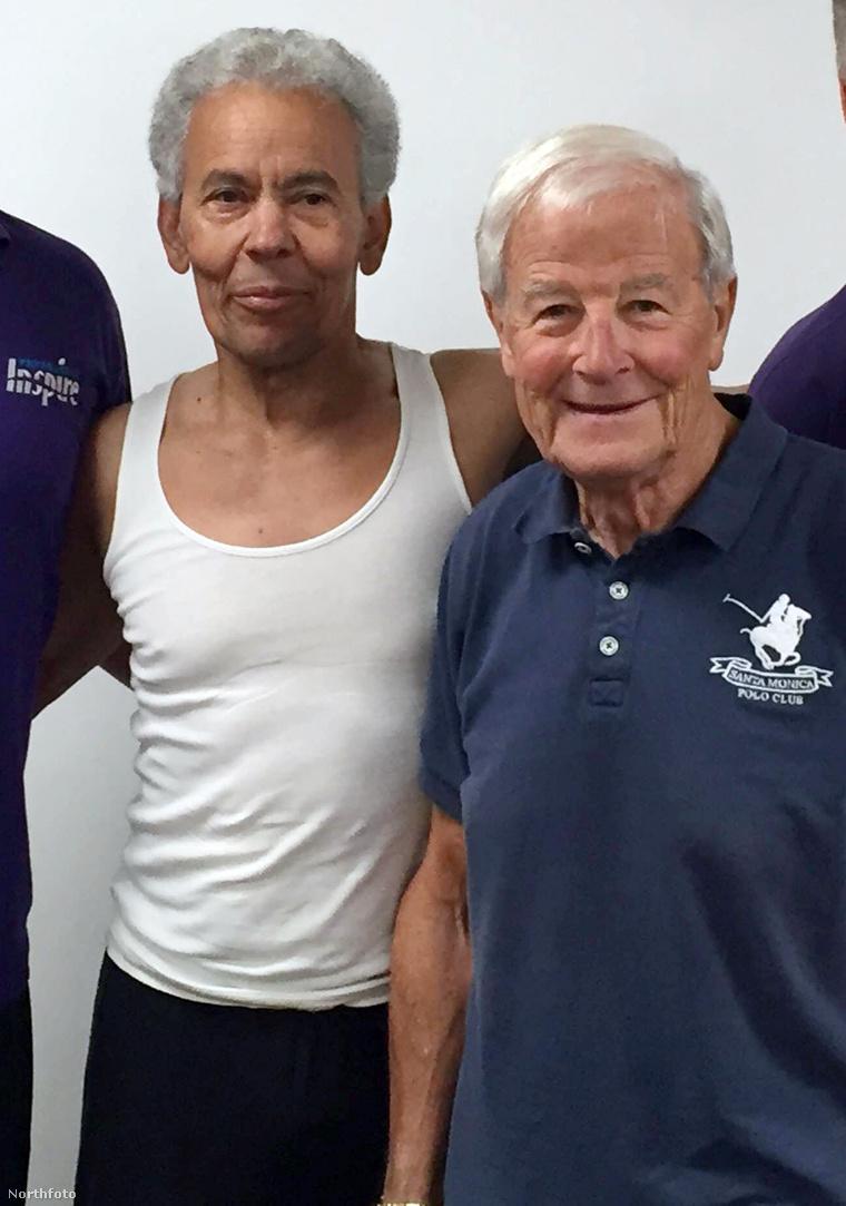 John Bubb kékben, mellette egykori gyúrós haverja, Ted Pollard