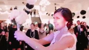 Na ez még sose történt esküvőn csokordobás után