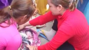Megrázó videó: szemeteszsákban találtak egy újszülöttet, megmentették