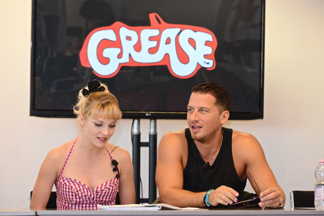 Grease - A két főszereplő, Görgényi Fruzsina és Vastag Csaba