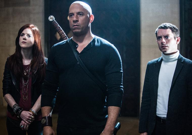 Az utolsó boszorkányvadász szereplői: Rose Leslie, Vin Diesel és Elijah Wood