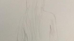 Salma Hayek a rajzolással próbálkozik, de nem megy neki túl jól