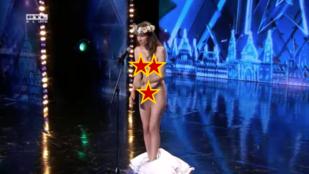 Expornós vetkőzött a Got Talent színpadán