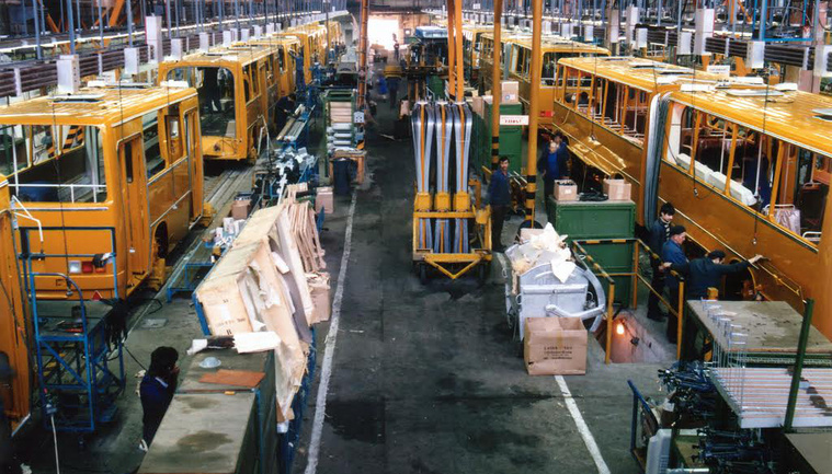 Volt nap, amikor 53 csuklós busz készült el az Ikarusban