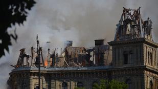 Még mindig nem tudni, mitől égett le az Andrássy úti palota